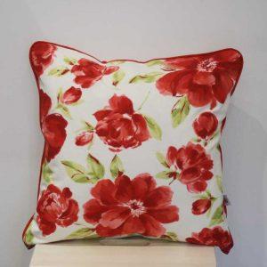 Poduszka czerwone kwiaty