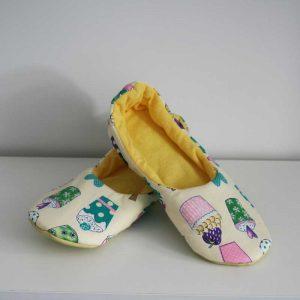 Kapcie żółte muffinki