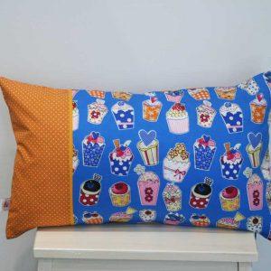 Poduszka niebieskie muffinki