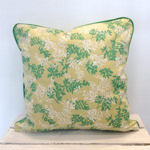Poduszka zielone listki