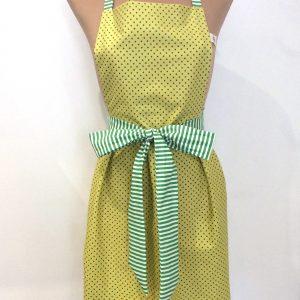 Fartuszek żółty z zielonym