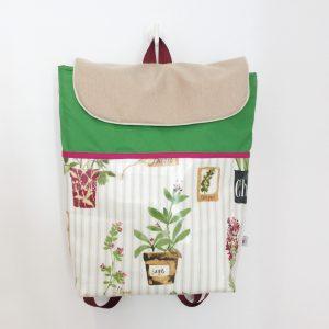Plecak z ziołami