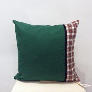 Poduszka zielona z kratką