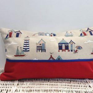 Poduszka plażowa z czerwienią
