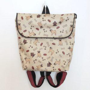 Plecak z mopsami