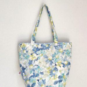Koszyk retro niebieskie kwiaty