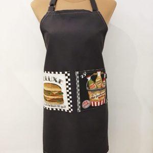 Fartuch męski z hamburgerem