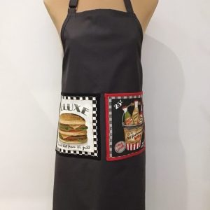 Fartuch z hamburgerem