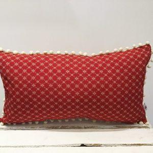 Poduszka czerwona z kremem