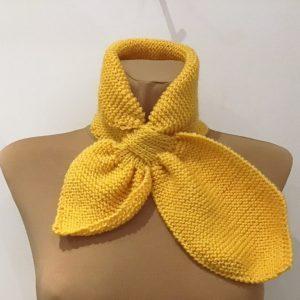 Retro szalik żółty