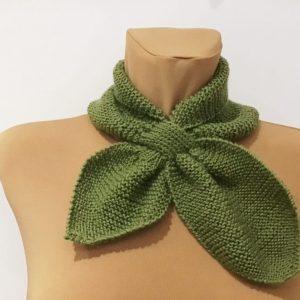 Retro szalik zielony