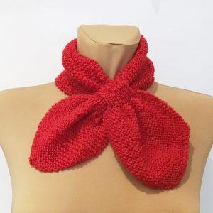 Retro szalik czerwony