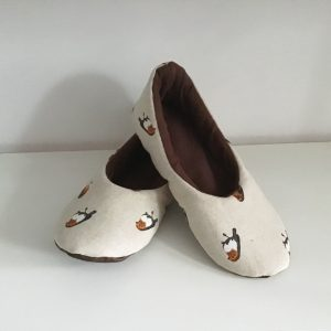Slippers with birds