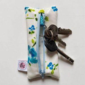 Etui na klucze niebieskie róże