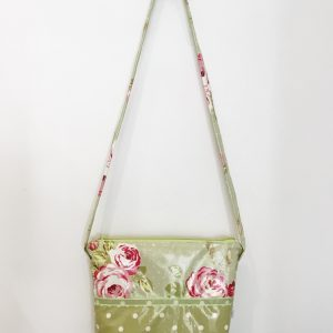 Bag green flowers and dots