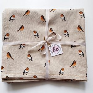 Tablecloth with sparrows
