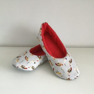 Slippers with cranes and herons (37)