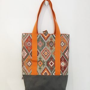 Bag orange with grey