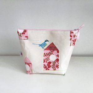 Kosmetyczka domki z ptakami