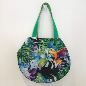 Bag double-sided with parrots