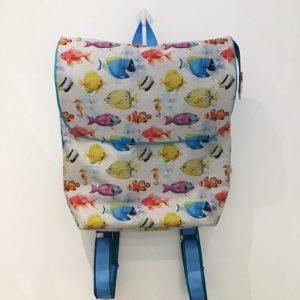 Plecak z rybkami