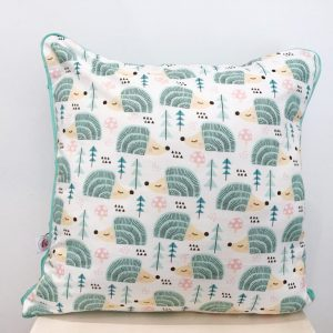 Cushion with hedgehogs
